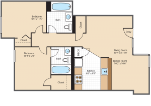 Two Bedroom Apartment Southeast Washington DC