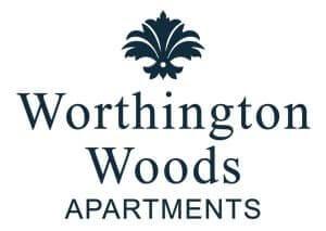 Worthington Woods Apartment Logo Blue